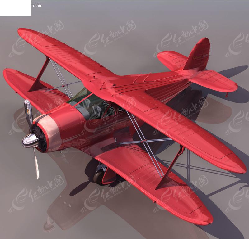 三维老式飞机模型素材