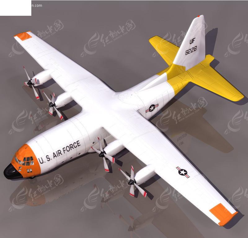 3d飞机模型 运输机模型 三维模型 三维建模 3d模型 3d素材