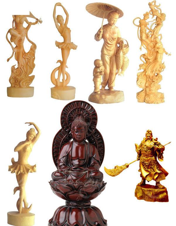 木雕人物素材