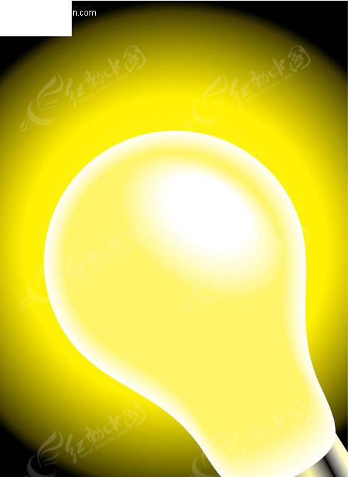 发光的灯泡背景图矢量图