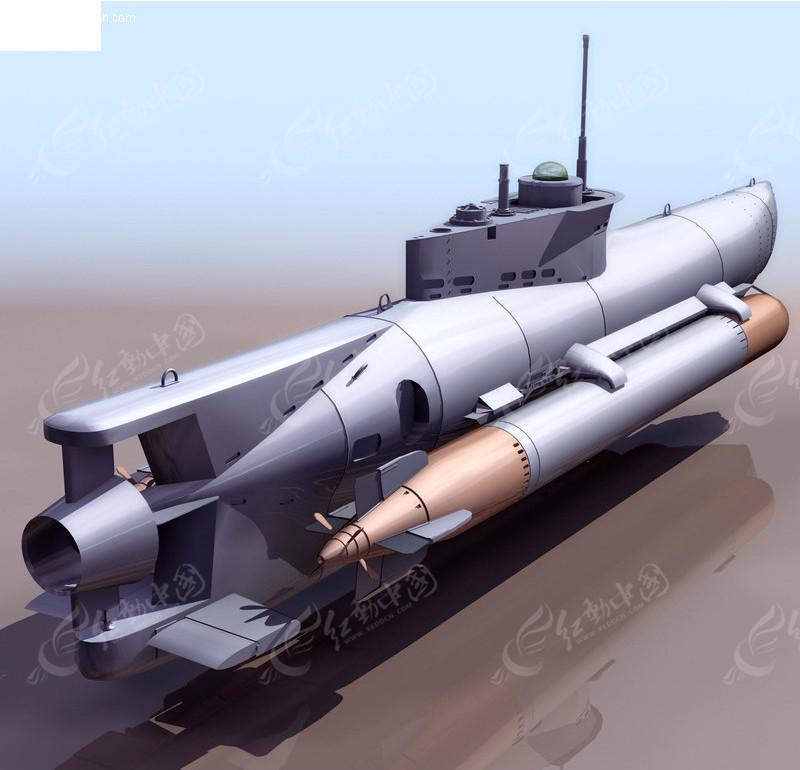 三维潜艇模型素材
