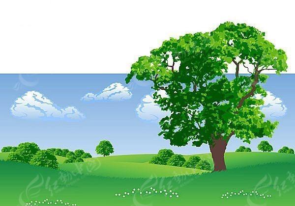 矢量图矢量图 花草树木