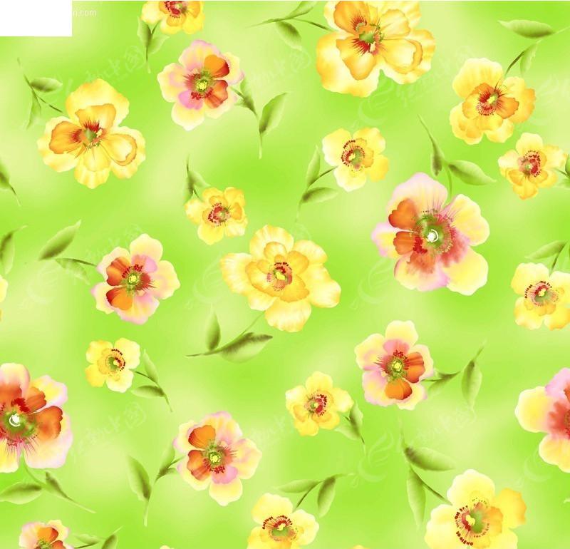 高质量PSD手绘花朵背景素材