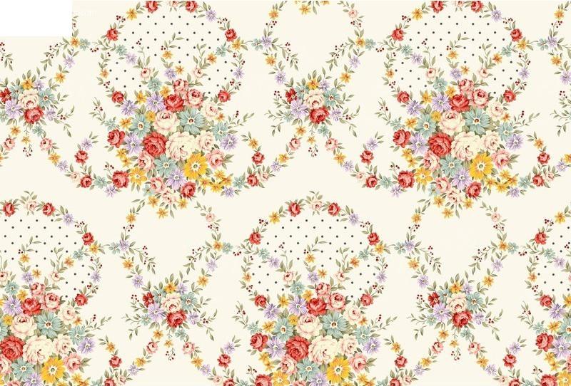 psd韩国手绘花朵背景素材