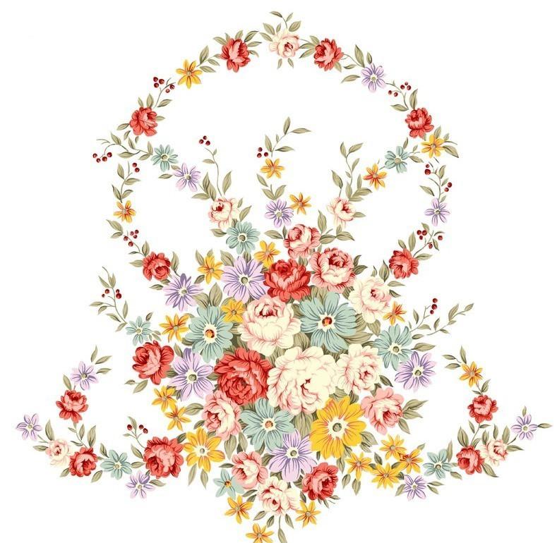 psd花朵手绘素材