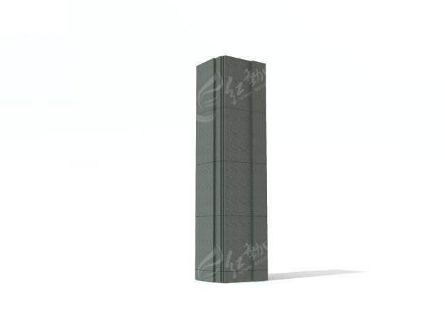 方形柱子3d模型