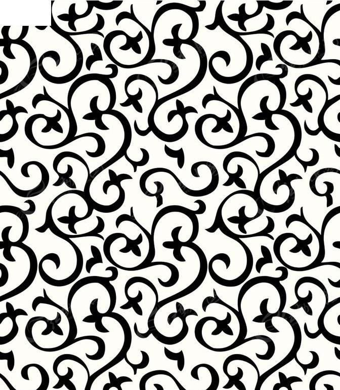 黑白花纹素材