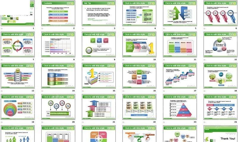 清新自然商务ppt模板_计划总结