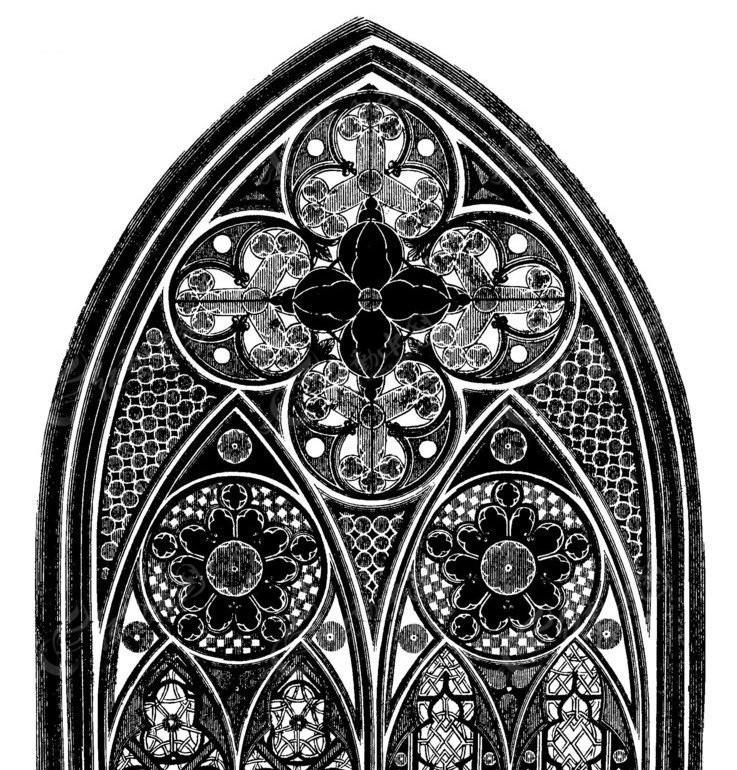 矢量欧式古建筑花纹图案
