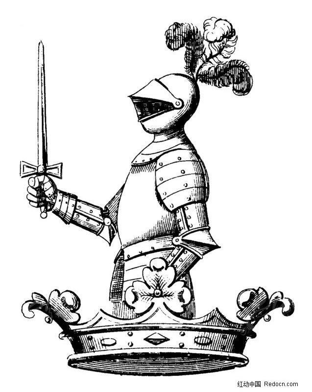 皇冠图片手绘素描