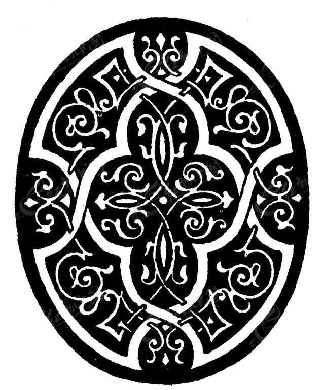 矢量图案素材 欧式图案 盾牌 盾牌纹理 花纹纹理 传统图案 矢量素材