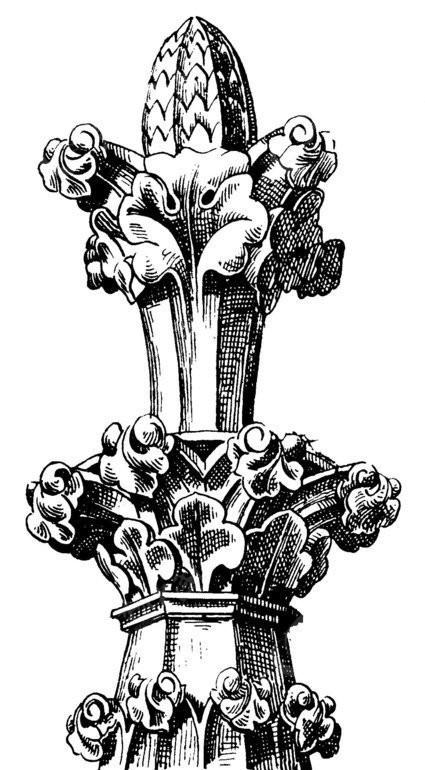 矢量古建筑素材 塔式建筑 雕刻石柱 纹理石塔 传统图案 矢量素材