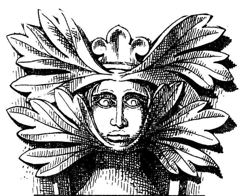 矢量古罗马人物头像素材
