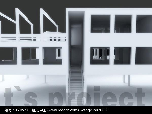 手工建筑设计模型