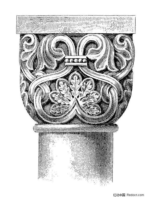 欧式风格石柱纹理素材