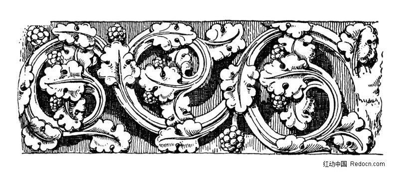 欧式风格古花纹纹理素材图片