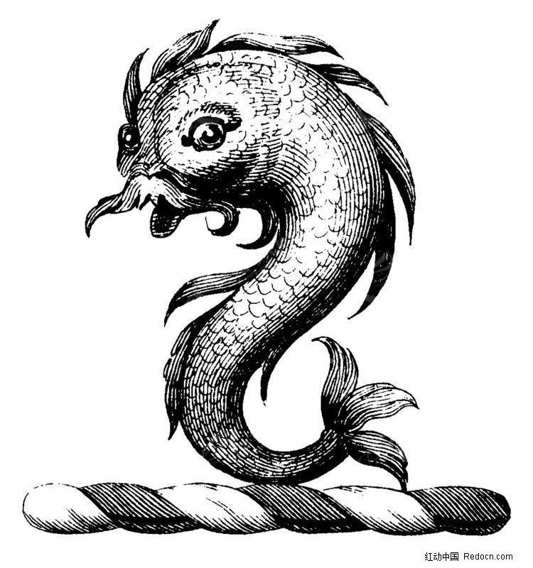 矢量怪兽鱼素材图片
