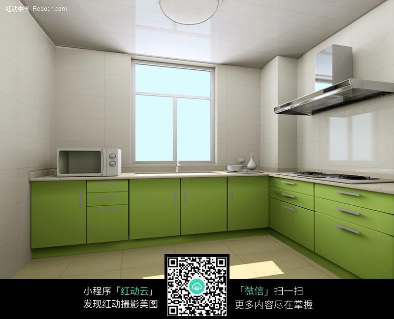 简单厨房装修效果图图片_室内设计图片