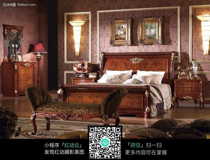 欧式宫廷风格卧室图片