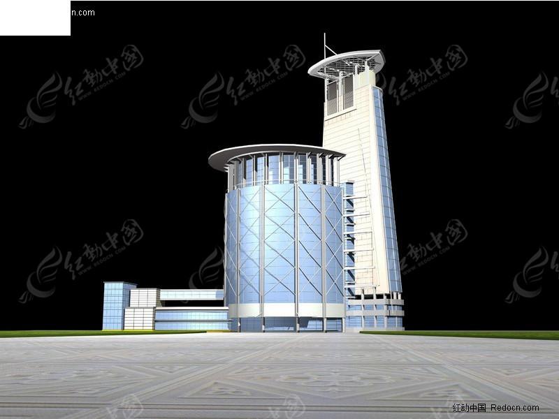 3D办公大楼模型素材