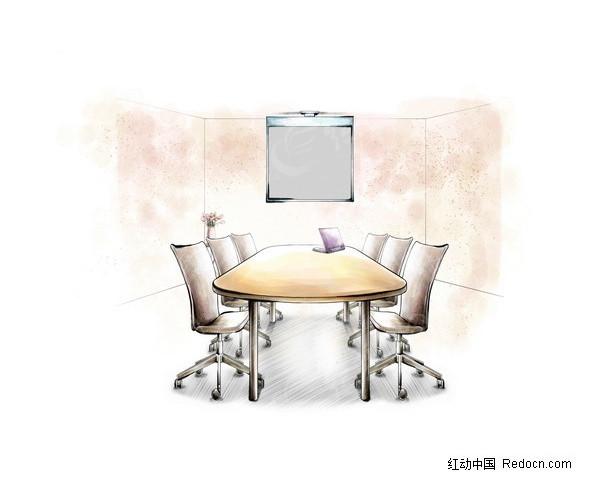 会议室设计手绘草图