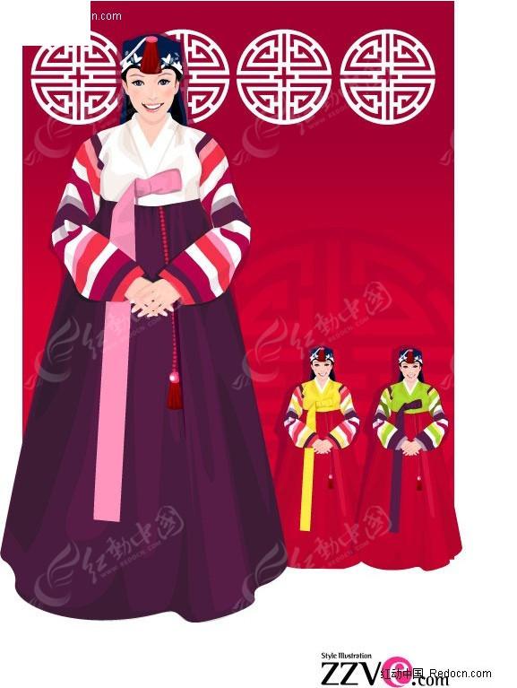 传统韩国服饰美女 朝鲜美女 美女 女性 女人 女子 美女图片 女人图片