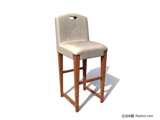 高脚儿童椅子3d模型