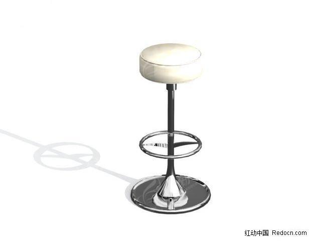 圆形吧台椅子3d模型