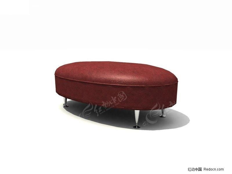 椭圆形无靠背沙发3d模型