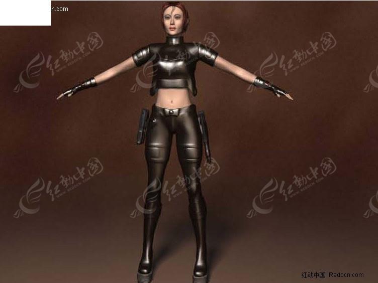 高精3d女性游戏人物模型