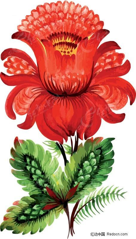 手绘花卉花纹装饰