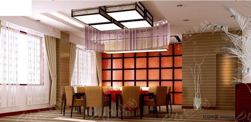 现代风格餐厅包厢效果图高清图片