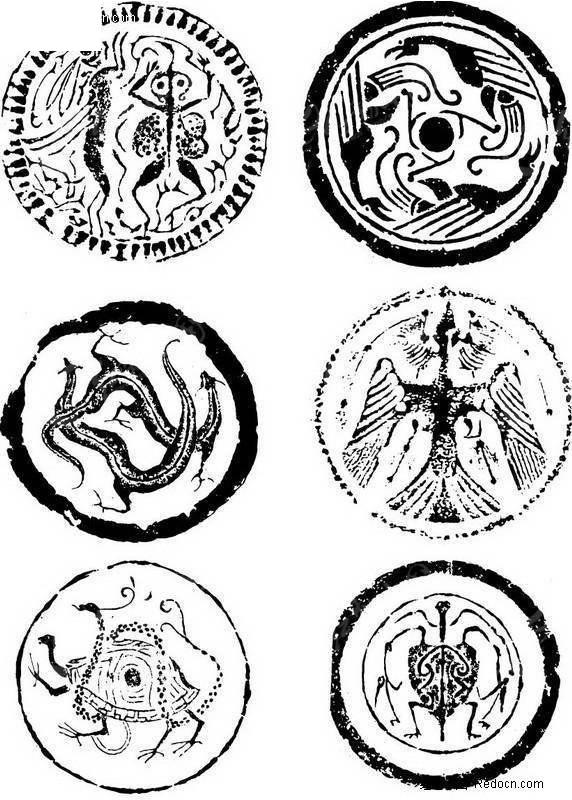 白虎手绘传统神兽