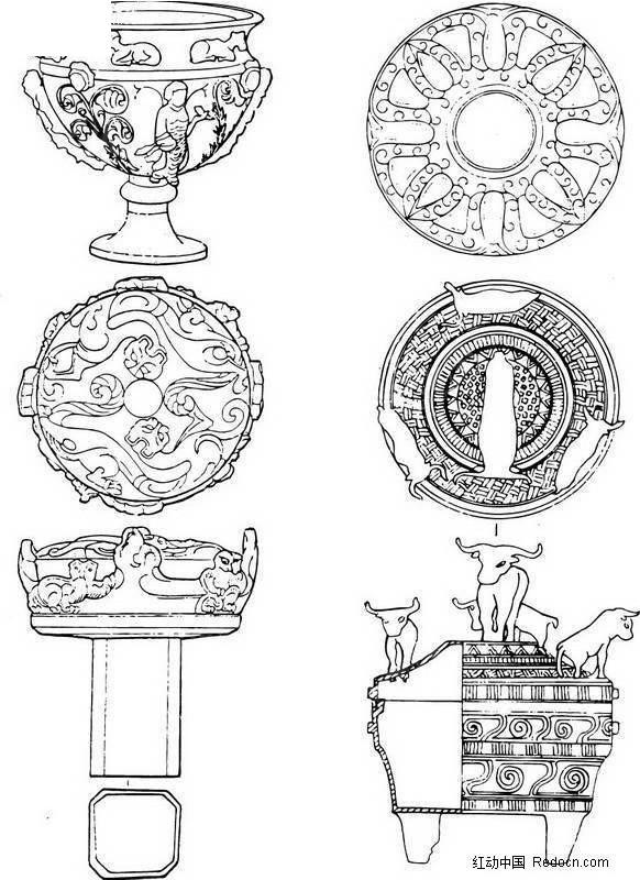 青铜器纹饰图案