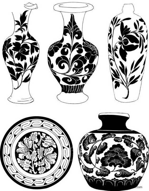 瓷器花瓶图案