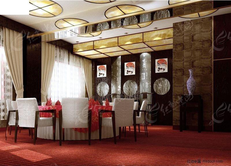3D餐厅包厢设计效果图高清图片