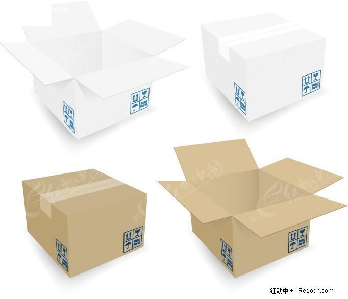 包装箱展开矢量图_包装设计