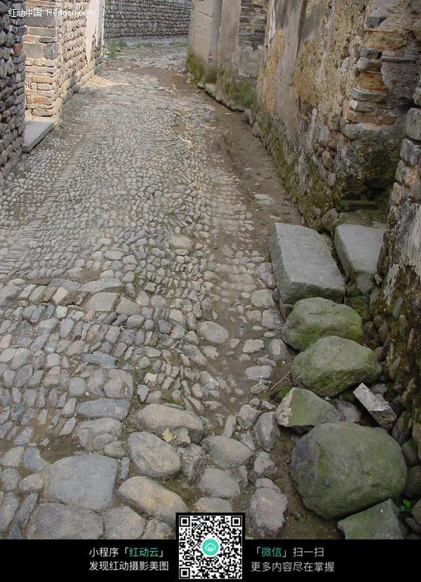 渔村石子小路图片_道路摄影图片
