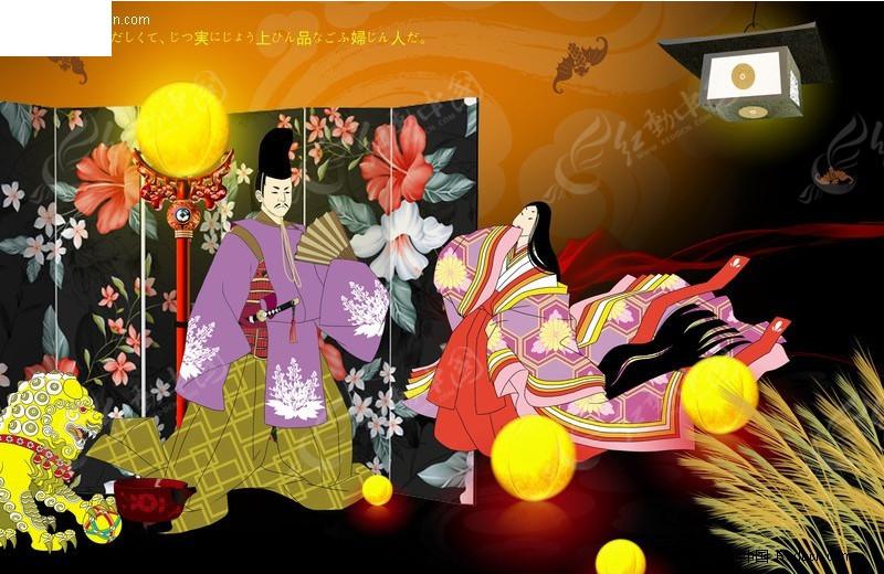 古风 日本风格  妇女 君主  皇帝 美女 古代 人物素材 人物图片 psd