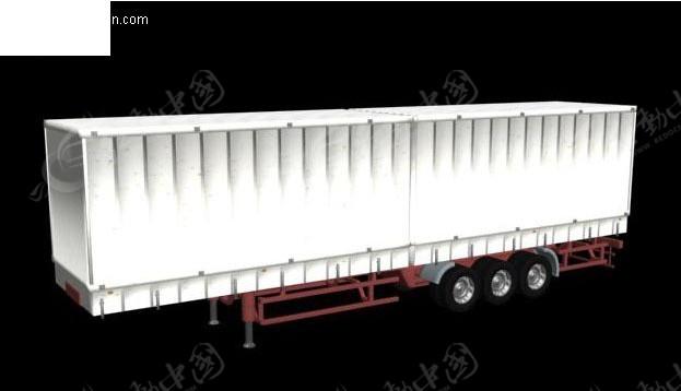 3d大货车车厢模型3dmax免费下载_交通工具素材