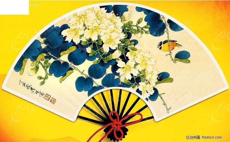 水墨画扇面帖图(编号:186679); 关键词:3d帖图素材扇面帖图折扇扇子图片
