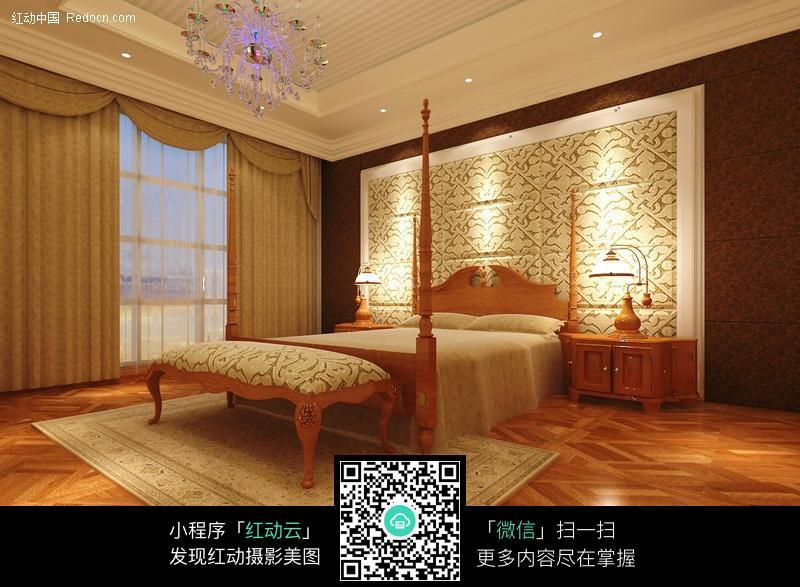 卧室3d装修效果图图片高清图片