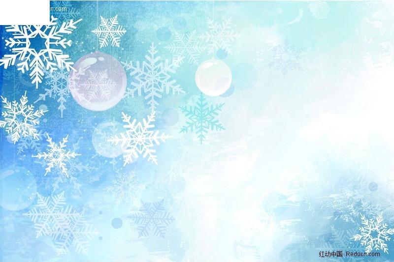 手绘雪花背景图案