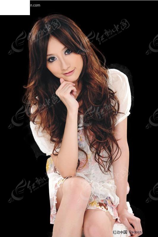 发型 抠图 美女 美发 模特 人物素材 人物图片  psd分层素材
