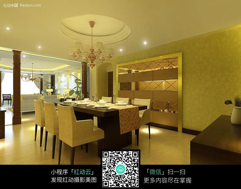 餐厅3D装修效果图图片高清图片