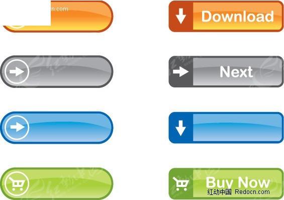 红色水晶按钮素材_各类水晶按钮EPS素材免费下载_红动网