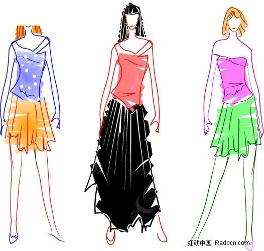 手绘服装设计图片