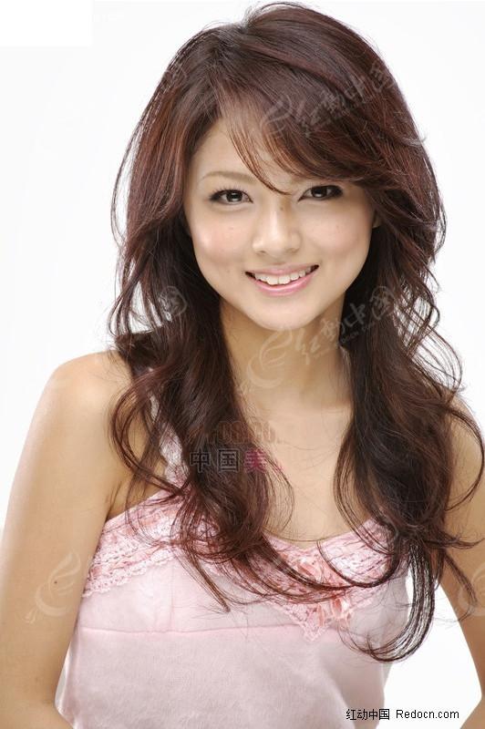 韩国美女发型抠图图片
