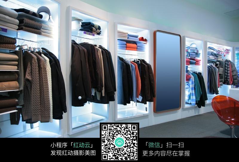 高档服装店的陈列摆设图片-环境图片|图片库|图