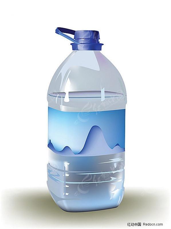矿泉水瓶3d模型图片素材_红动手机版图片
